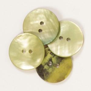 DROPS Perlmuttknöpfe rund (grün) 20mm