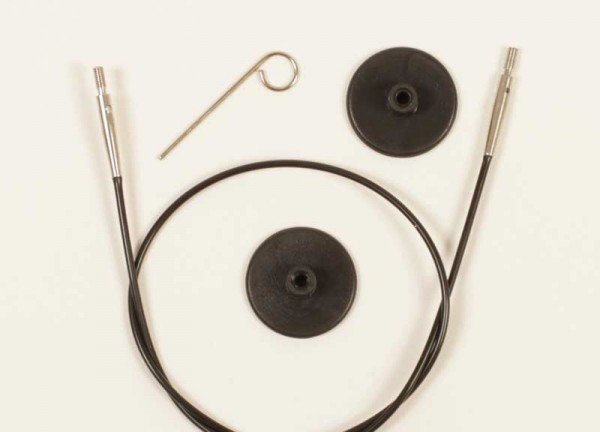 Plus 35 cm Seil - ergibt 60 cm Rundnadeln