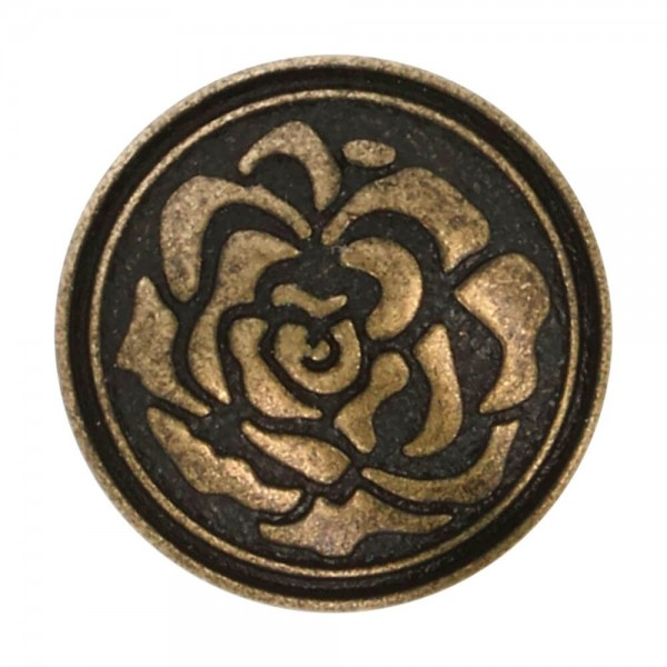 Metallknöpfe Rose altgold