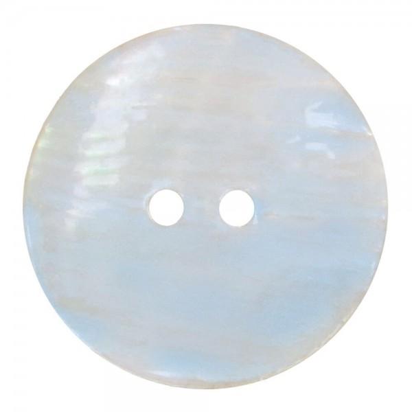Knopf Perlmutt Aquarell 17,50mm blau
