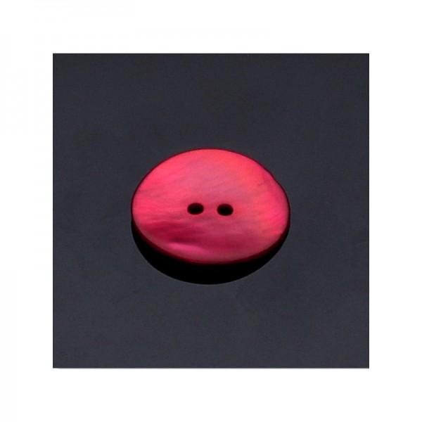 Perlmutt-Knöpfe rund rot