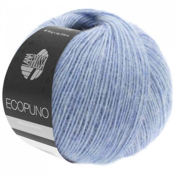 LANA GROSSA Ecopuno - Superweiches Ganzjahresgarn aus Baumwolle mit Merinowolle und Babyalpaka