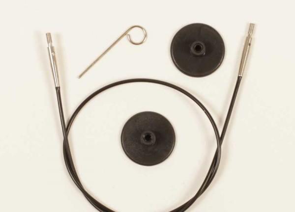 Plus 56 cm Seil - ergibt 80 cm Rundnadeln