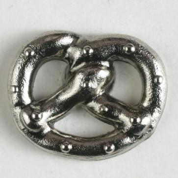 DILL Metall-Knopf Breze mit Öse altsilber 20 mm
