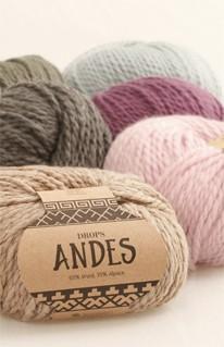 Andes- Wolle aus Alpaca und Schurwolle