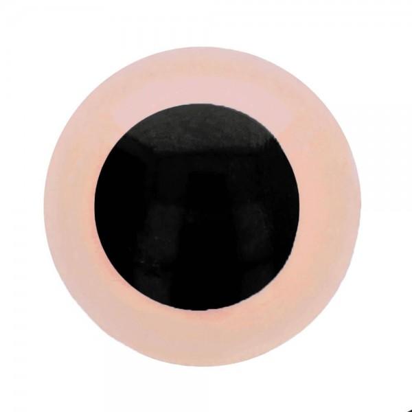 Tieraugen-Sicherheitsaugen rosa-schwarz 6mm 1 Stück