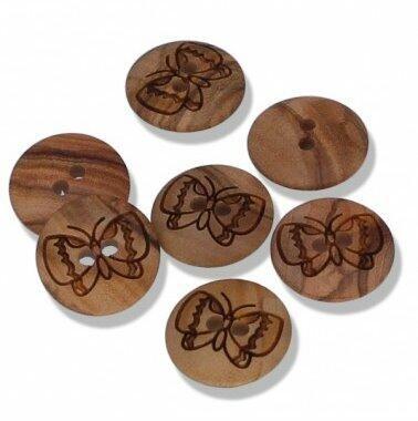 Kinderknöpfe Schmetterling Echt Holz
