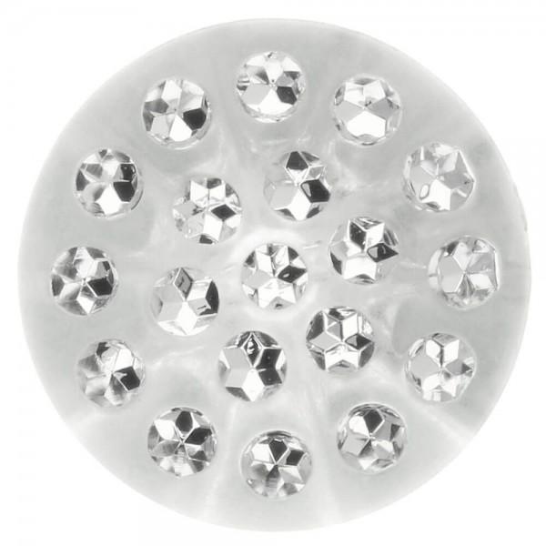 Knöpfe transparent mit Steinchen