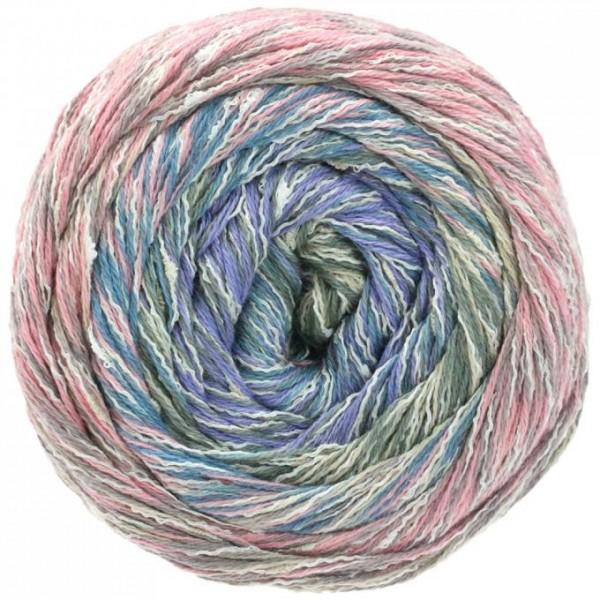LANA GROSSA Gomitolo Summer Tweed - Baumwollgarn mit aufregenden Farbverläufen und Tweed-Effekt