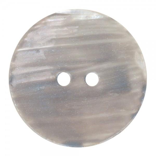 Knopf Perlmutt Aquarell 17,5mm grau