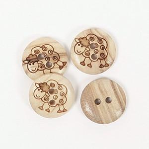 Kinderknöpfe Schaf Echt Holz