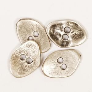 DROPS Metal Buttons kantig 20mm