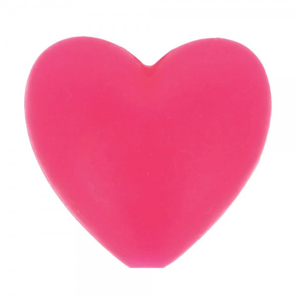 Silikon Perlen Herz 19 x 20 mm 5 Stück