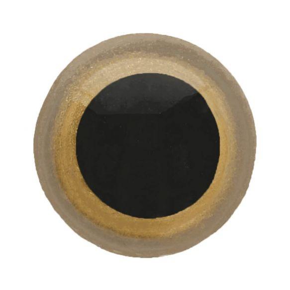 Tieraugen-Sicherheitsaugen hellbraun-schwarz 6mm 1 Stück