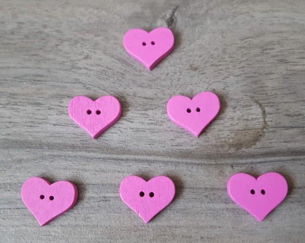 Holzknöpfe Herz