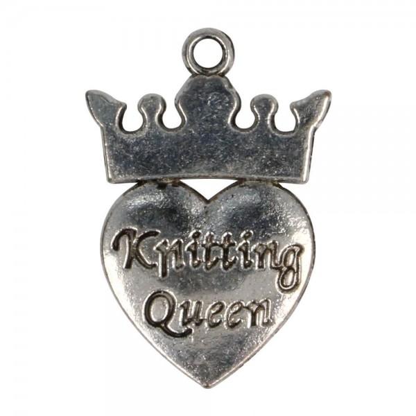 Anhänger Knitting Queen
