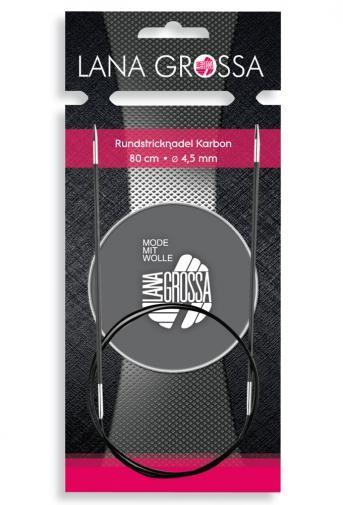 Rundstricknadel Karbon 60 cm