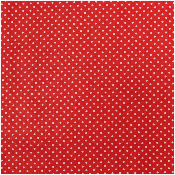 STOFF Punkte rot- weiss 50 X 140 CM