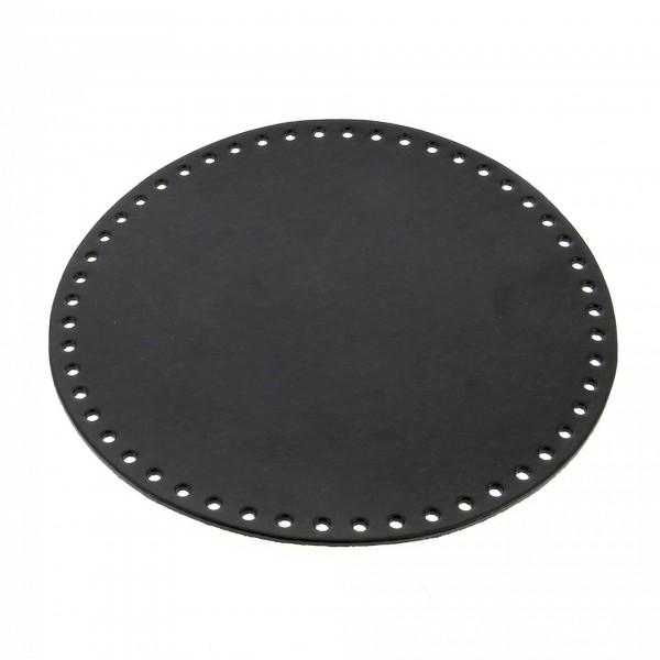 Taschenboden rund schwarz