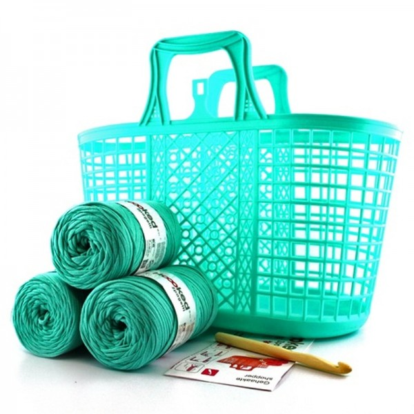 HOOOKED DIY Häkelset Shopper Happy Mint - Textilgarn